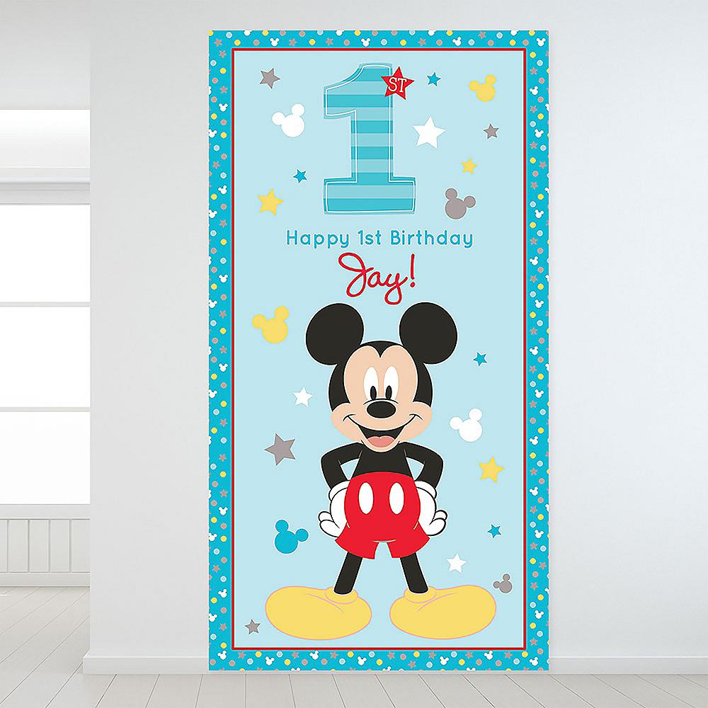 Custom Mickey's Fun to be 1 Backdrop Image #1