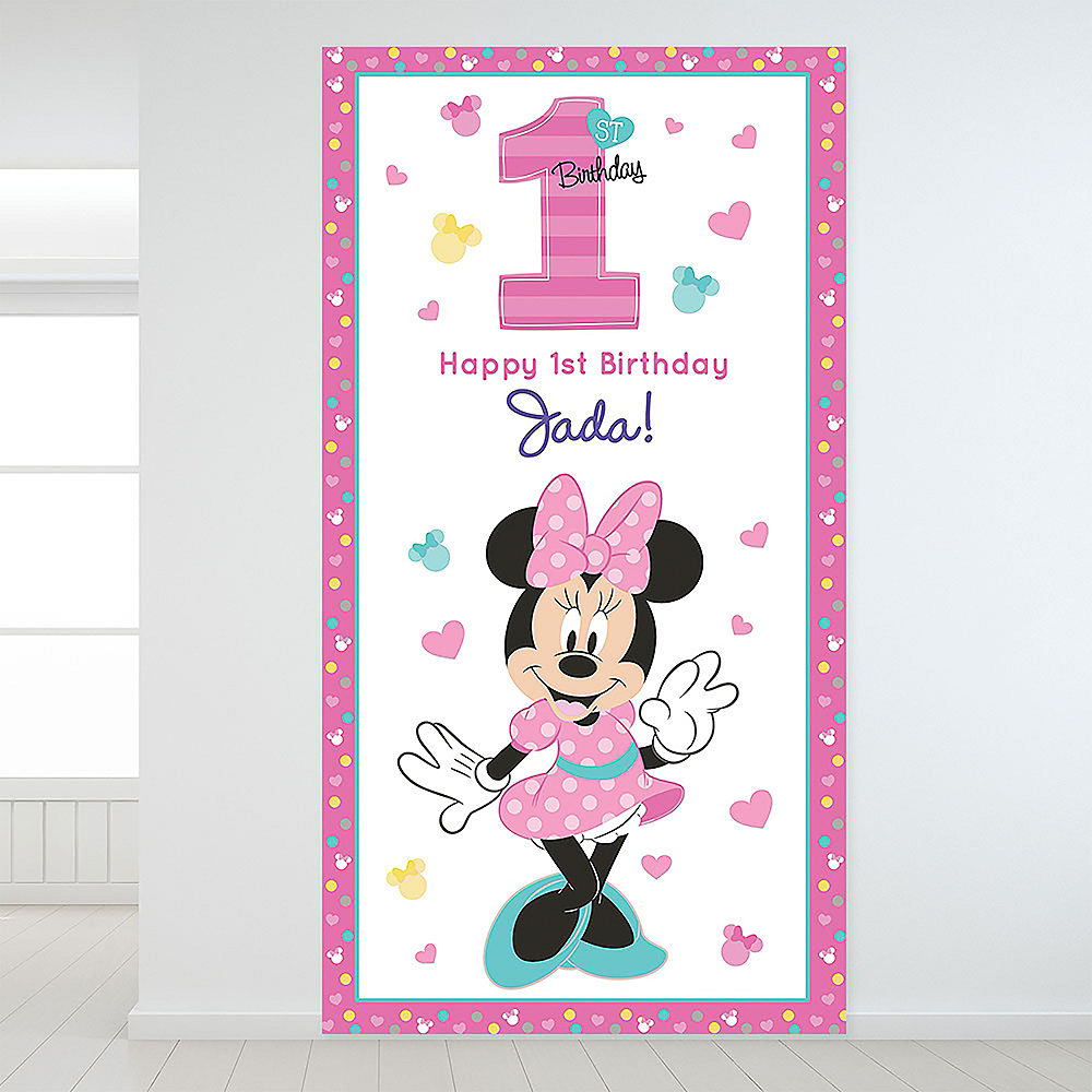 Custom Minnie's Fun to be 1 Backdrop Image #1