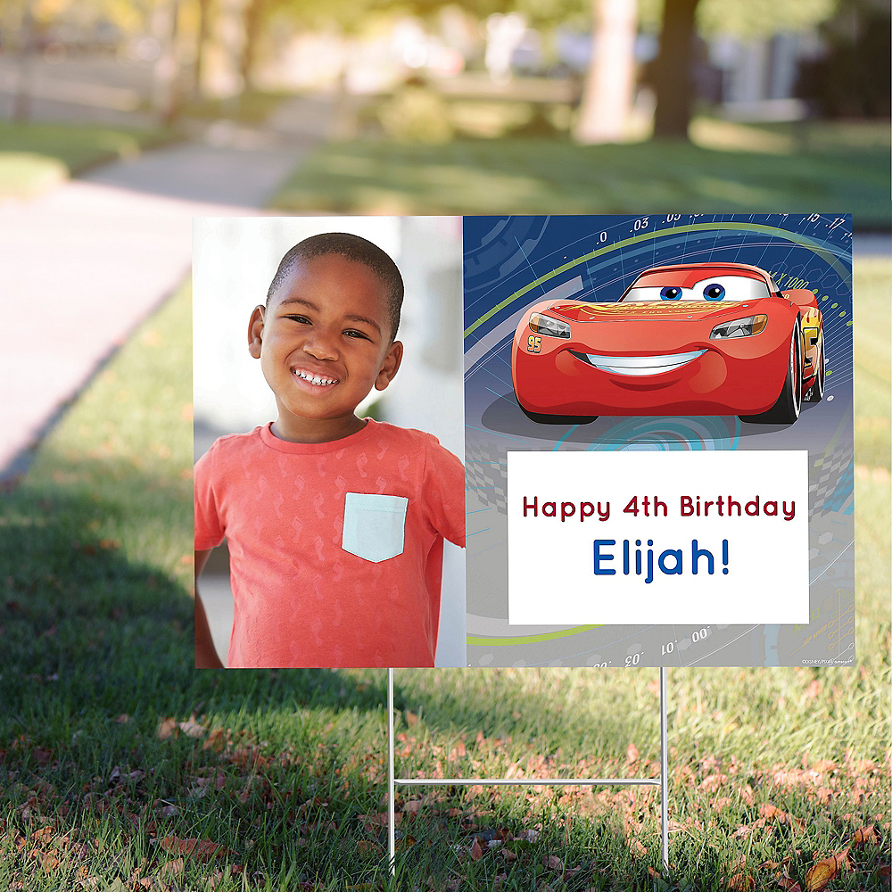 Custom Cars 3 Photo Yard Sign Image #1