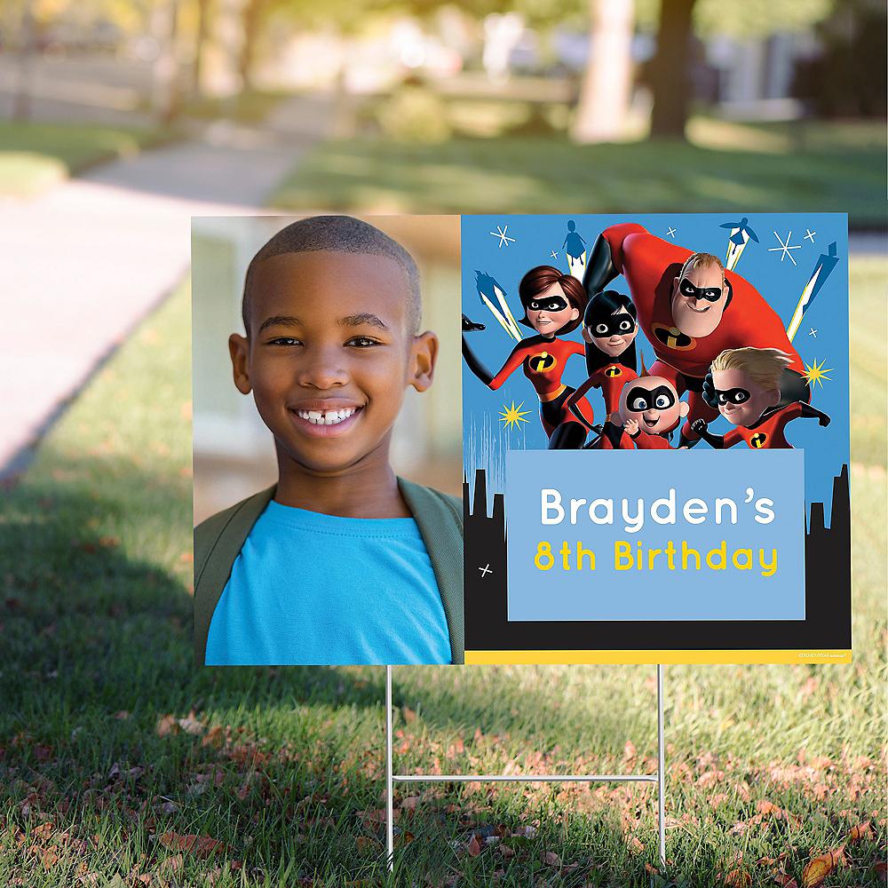 Custom Incredibles 2 Photo Yard Sign Image #1