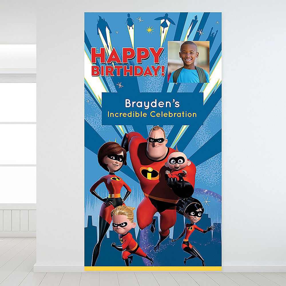 Custom Incredibles 2 Photo Backdrop Image #1