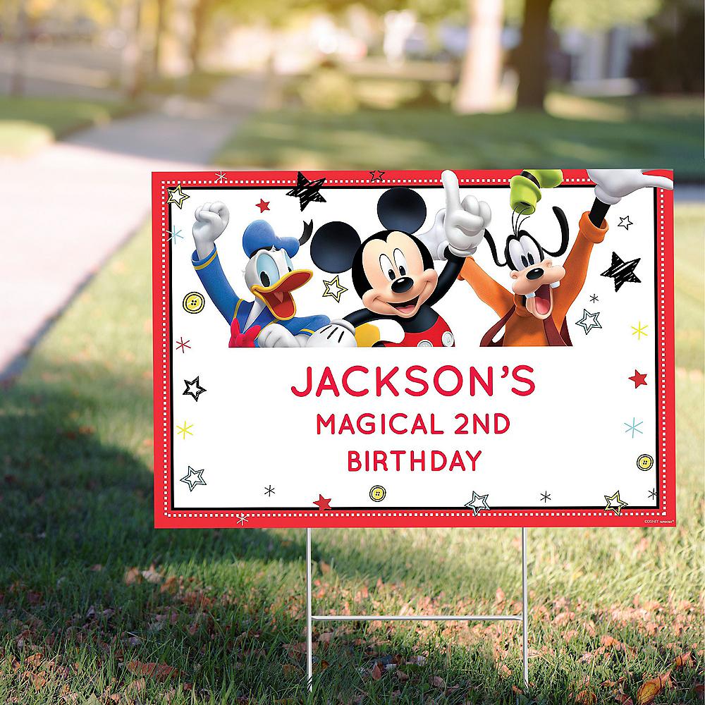Custom Mickey on the Go Yard Sign Image #1
