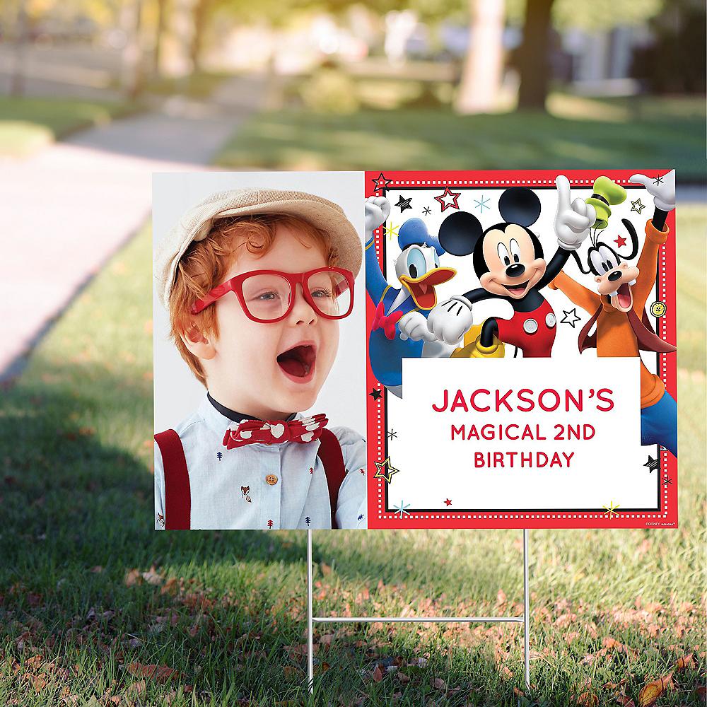 Custom Mickey on the Go Photo Yard Sign Image #1