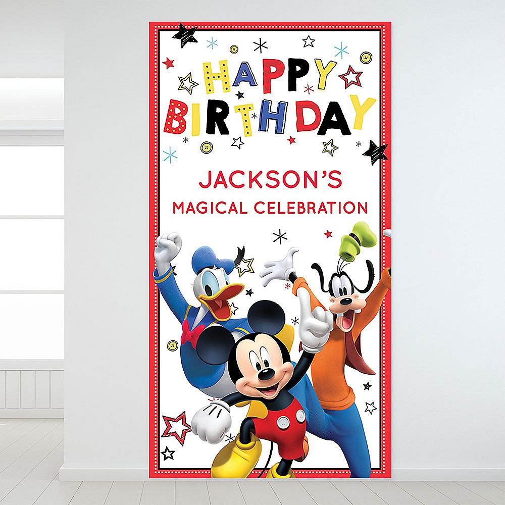 Custom Mickey on the Go Backdrop Image #1
