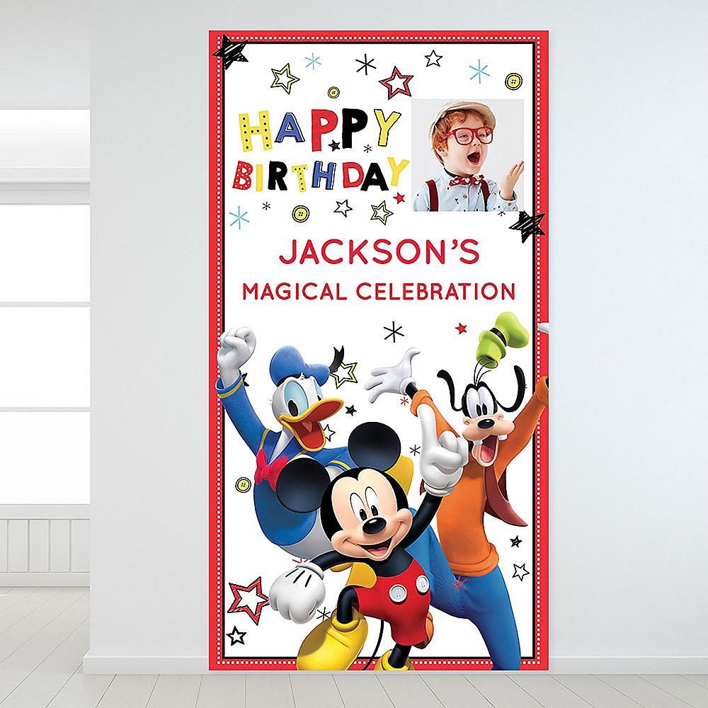 Custom Mickey on the Go Photo Backdrop Image #1