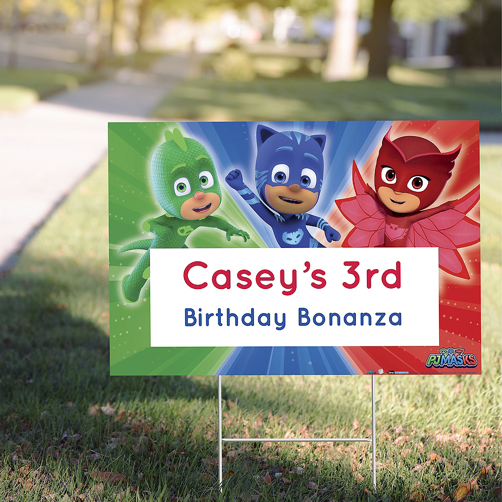 Custom PJ Masks Yard Sign Image #1
