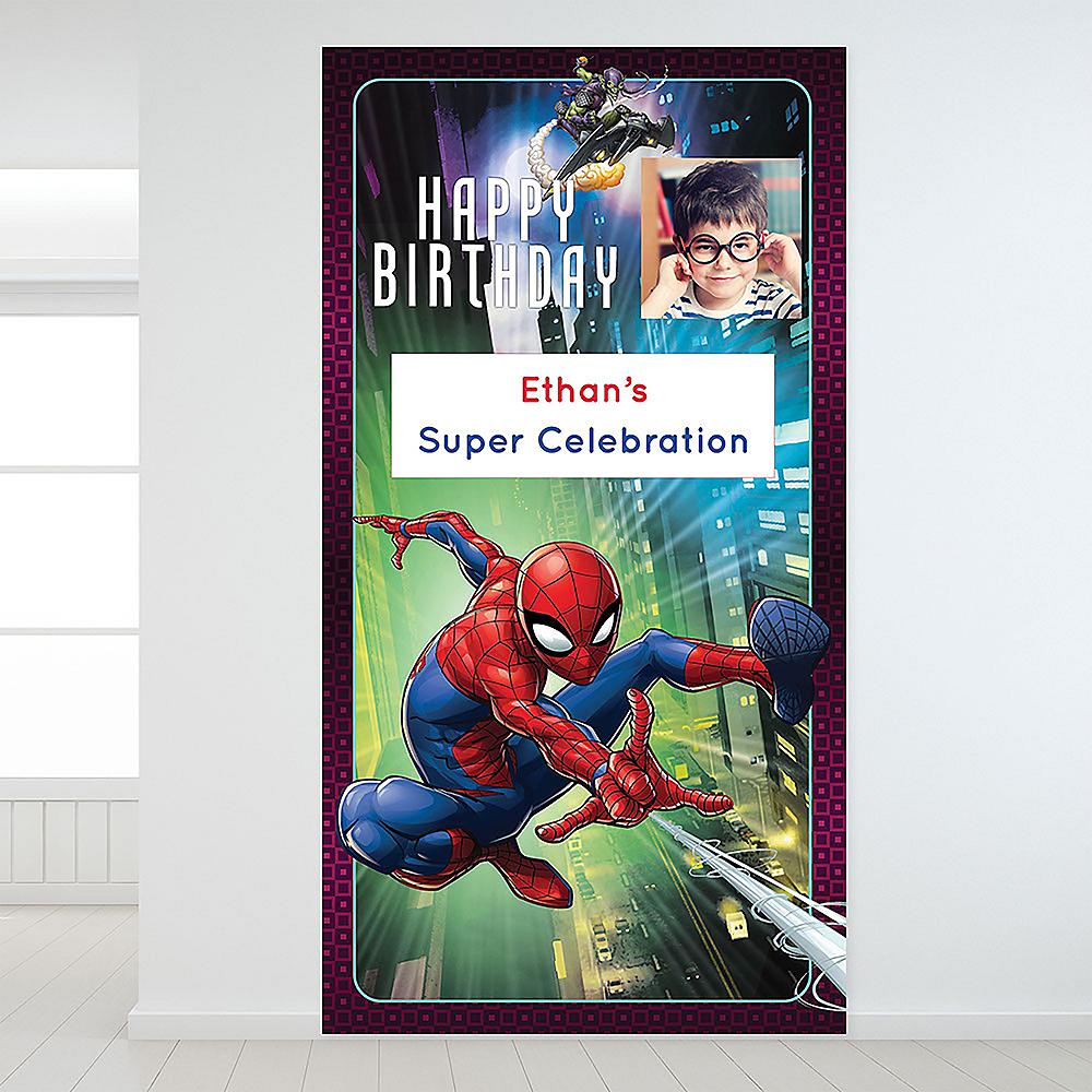 Custom Webbed Wonder Spider-Man Photo Backdrop Image #1