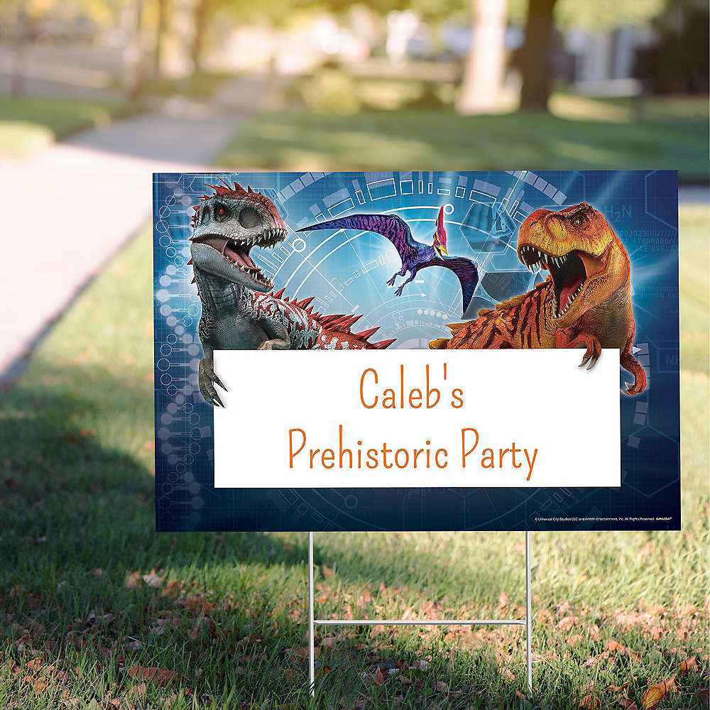 Custom Jurassic World Yard Sign Image #1