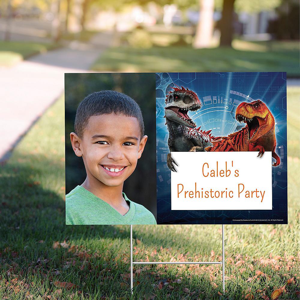 Custom Jurassic World Photo Yard Sign Image #1