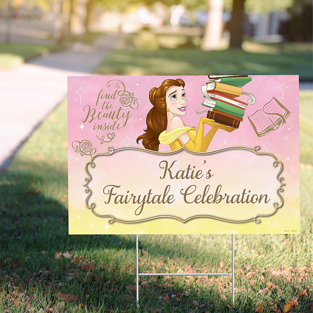 Custom Beauty and the Beast Yard Sign Image #1