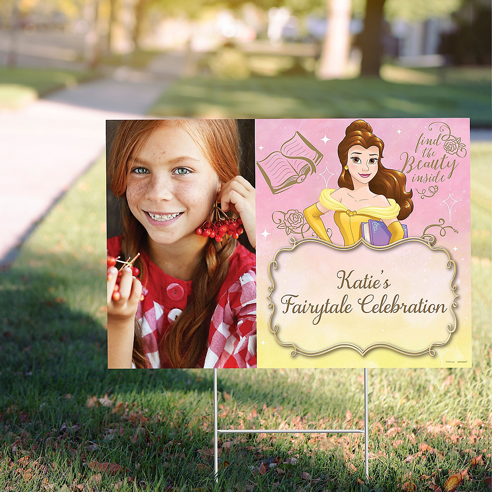 Custom Beauty and the Beast Photo Yard Sign Image #1