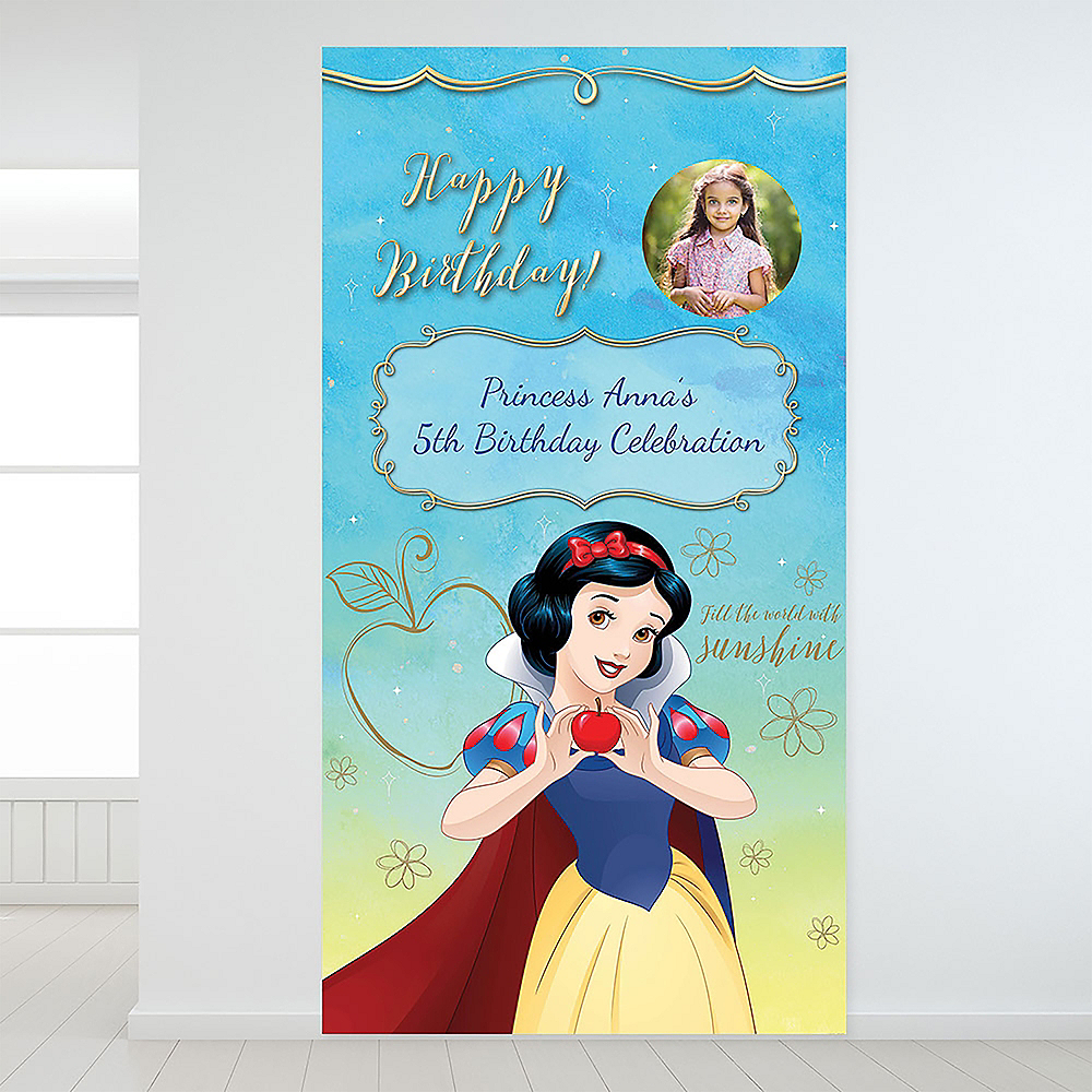 Custom Snow White Once Upon a Time Photo Backdrop Image #1