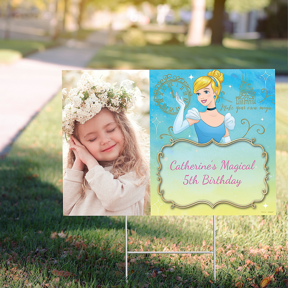 Custom Cinderella Photo Yard Sign Image #1