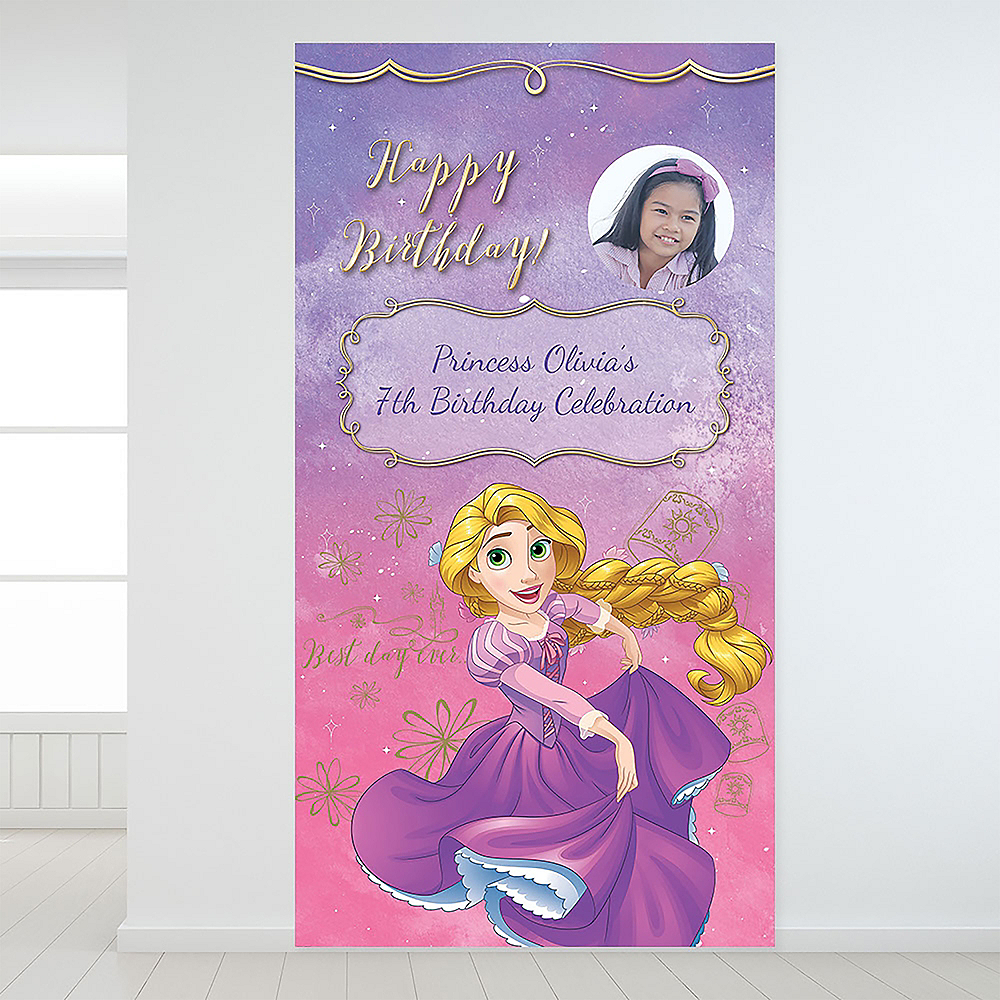 Custom Tangled Rapunzel Photo Backdrop Image #1