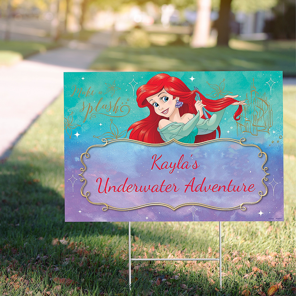 Custom The Little Mermaid Ariel Dream Big Yard Sign Image #1