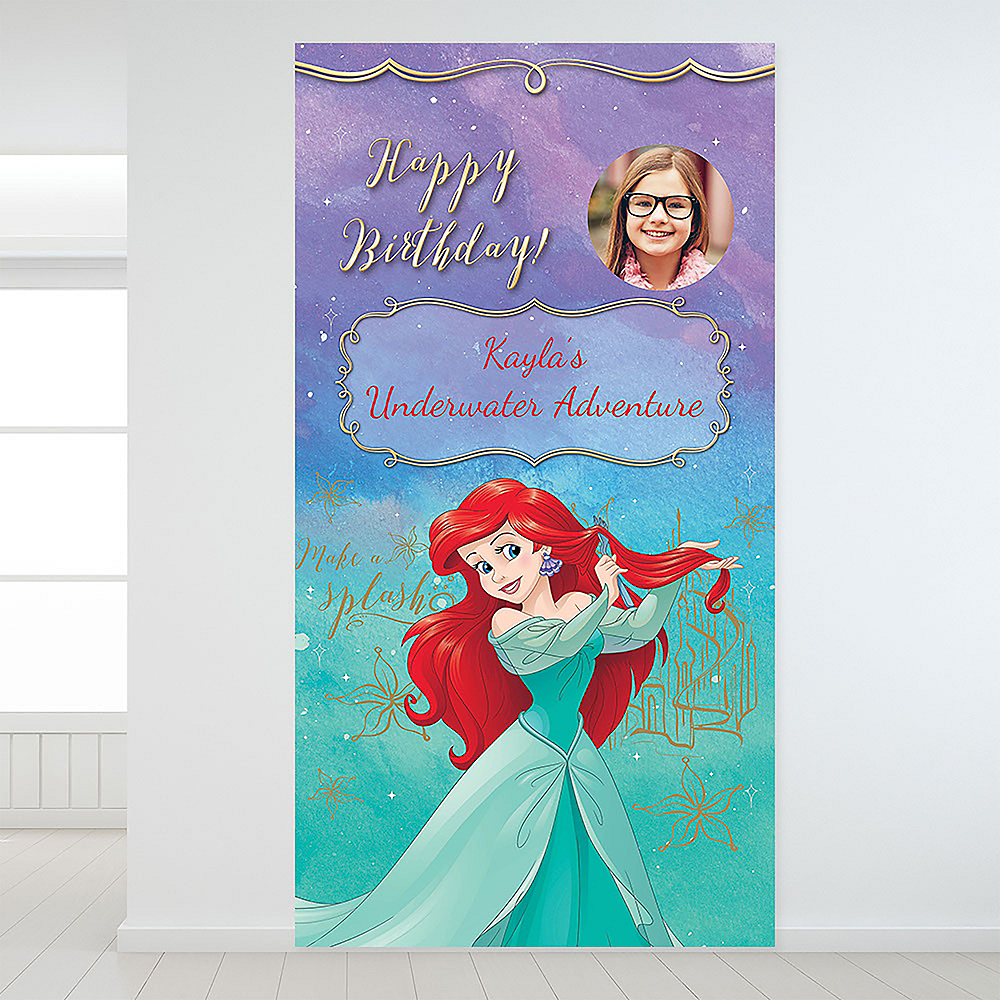 Custom The Little Mermaid Ariel Dream Big Photo Backdrop Image #1