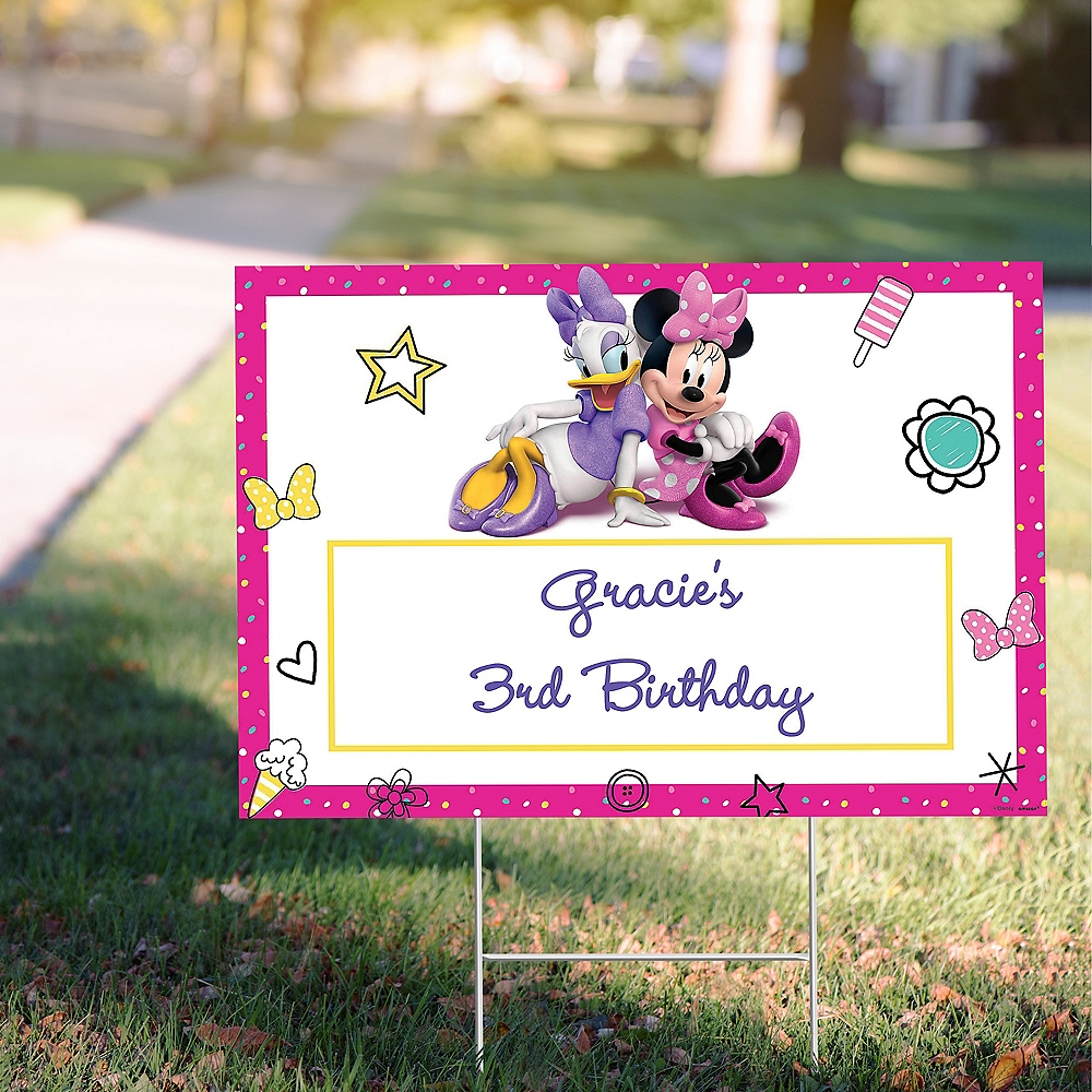 Custom Minnie Mouse's Helpers Yard Sign Image #1
