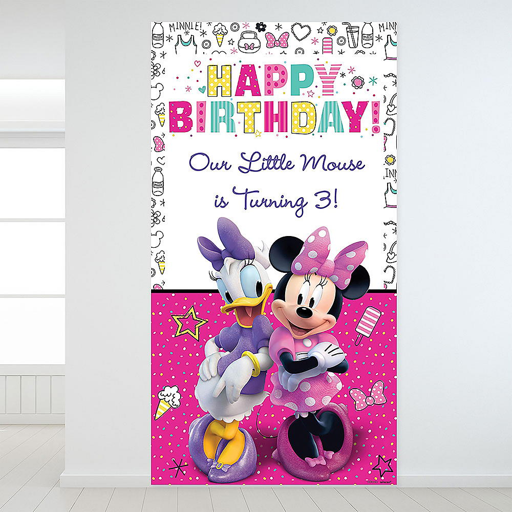 Custom Minnie Mouse's Helpers Backdrop Image #1