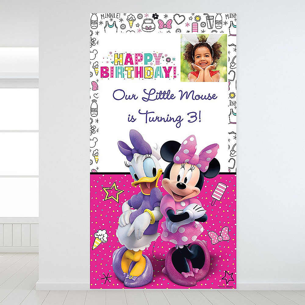 Custom Minnie Mouse's Helpers Photo Backdrop Image #1