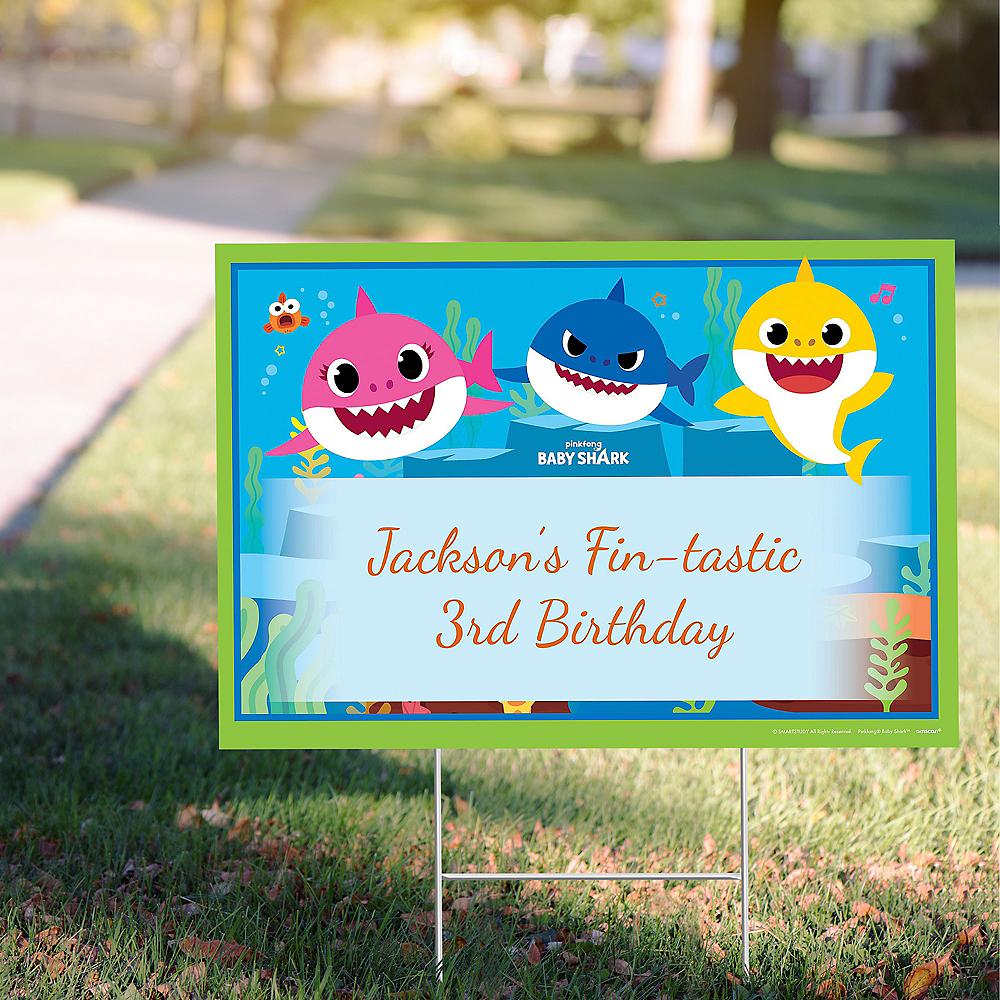 Custom Baby Shark Yard Sign Image #1