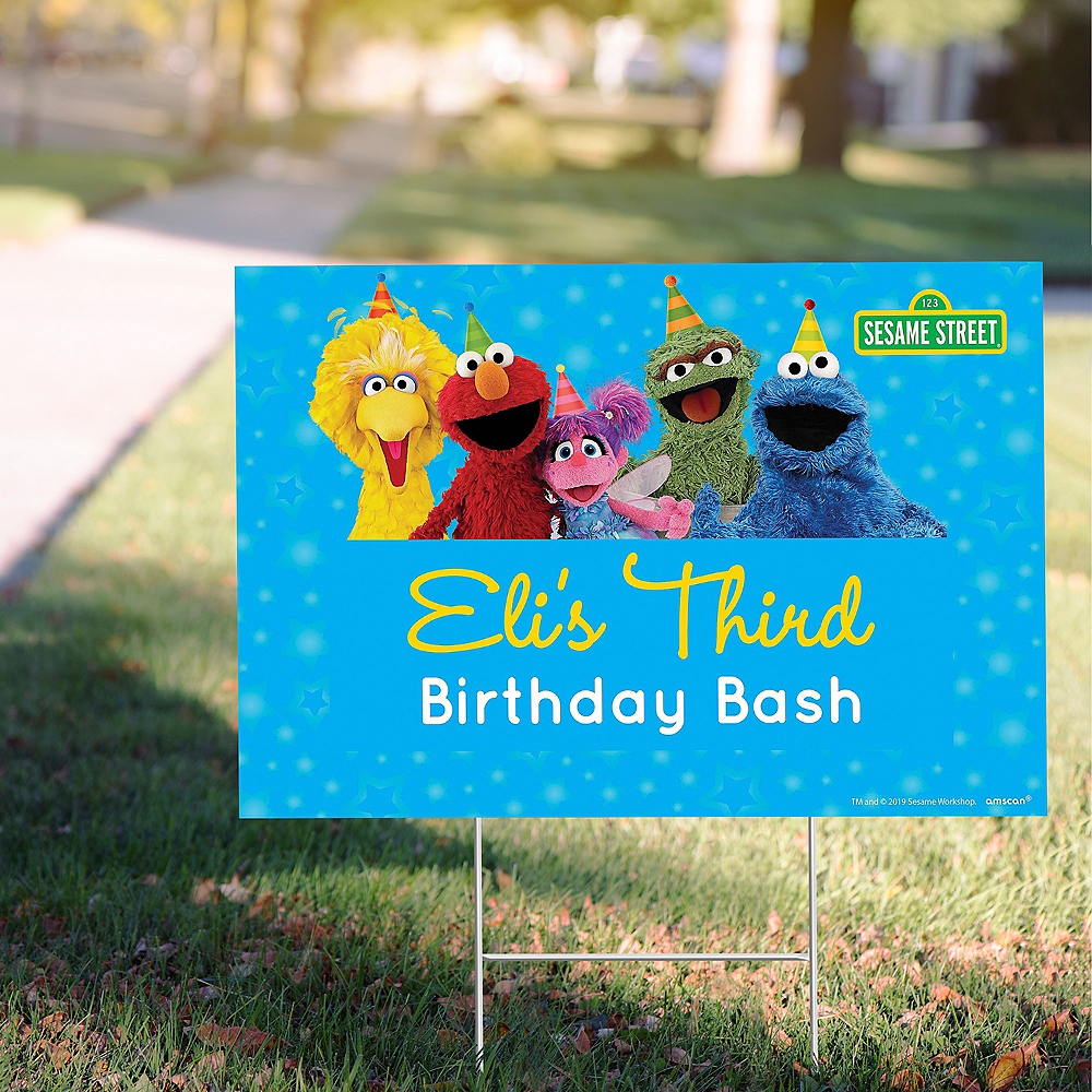 Custom Sesame Street Yard Sign Image #1