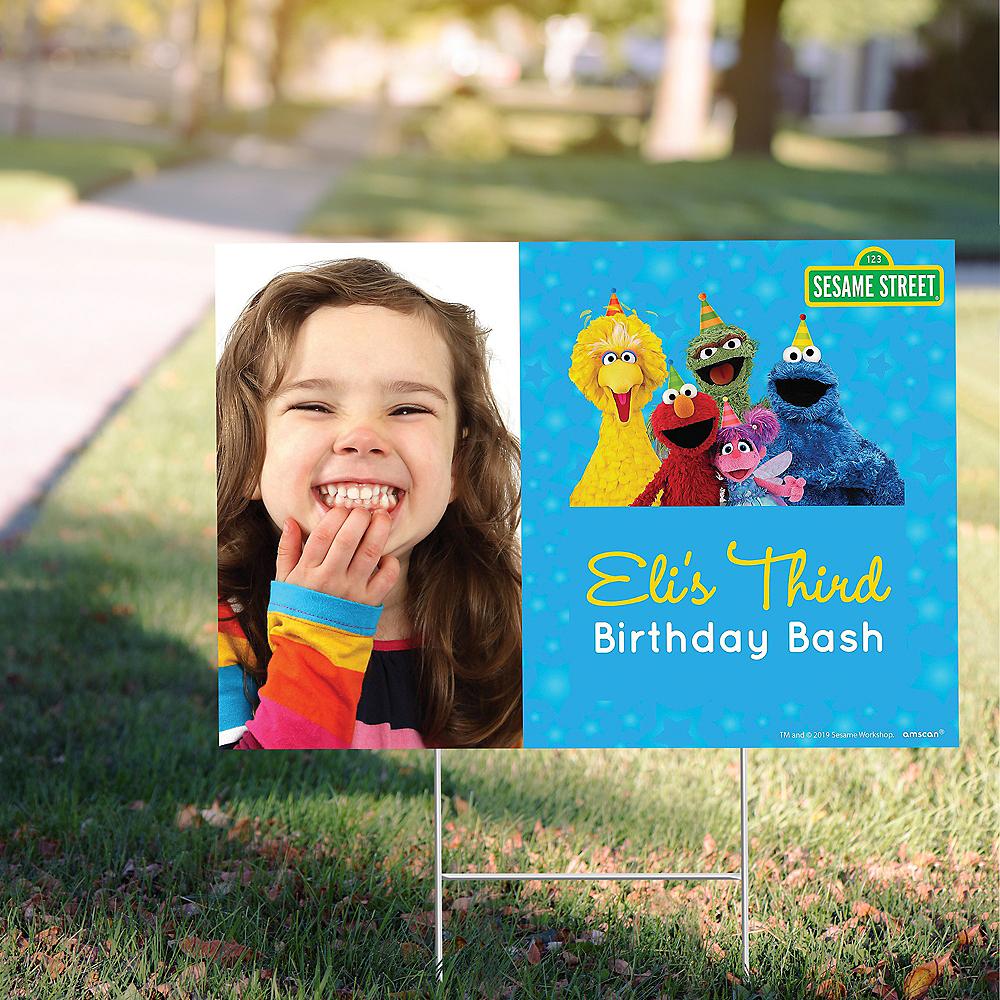 Custom Sesame Street Photo Yard Sign Image #1