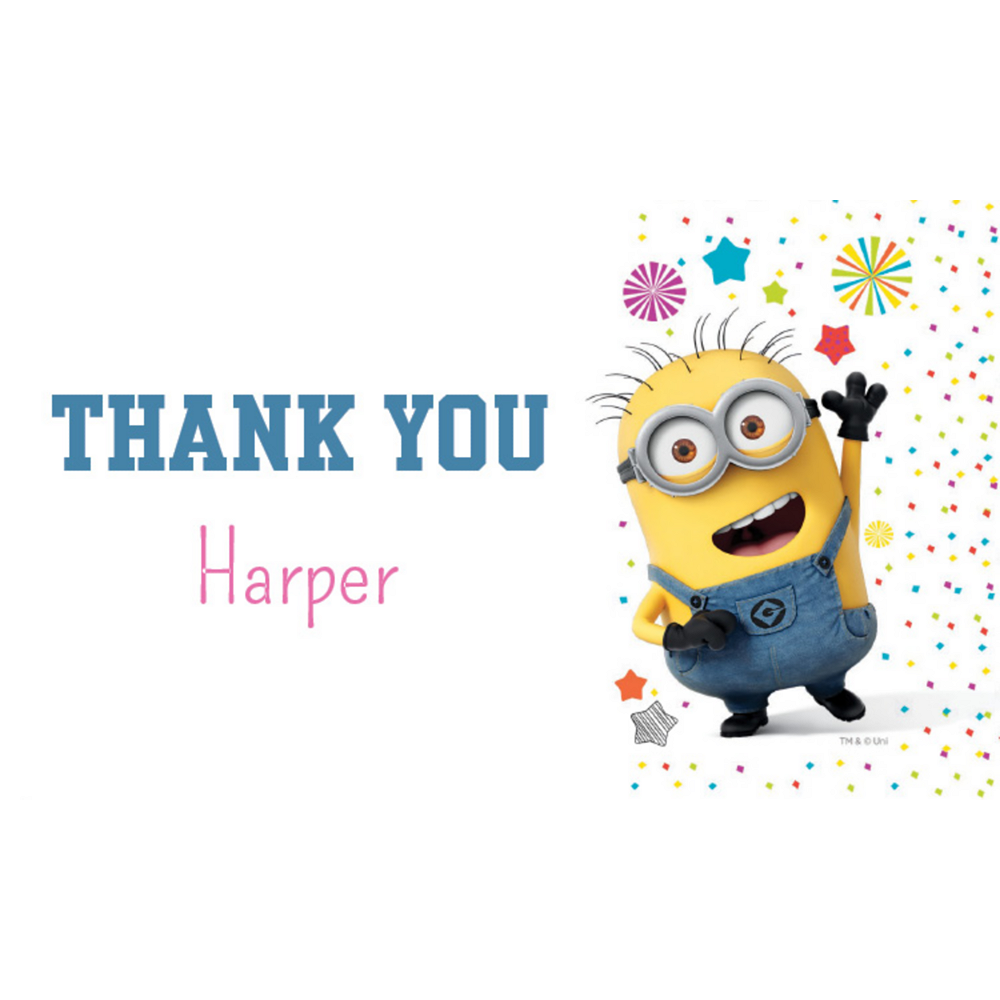 Custom Despicable Me 3 Thank You Notes Image #1