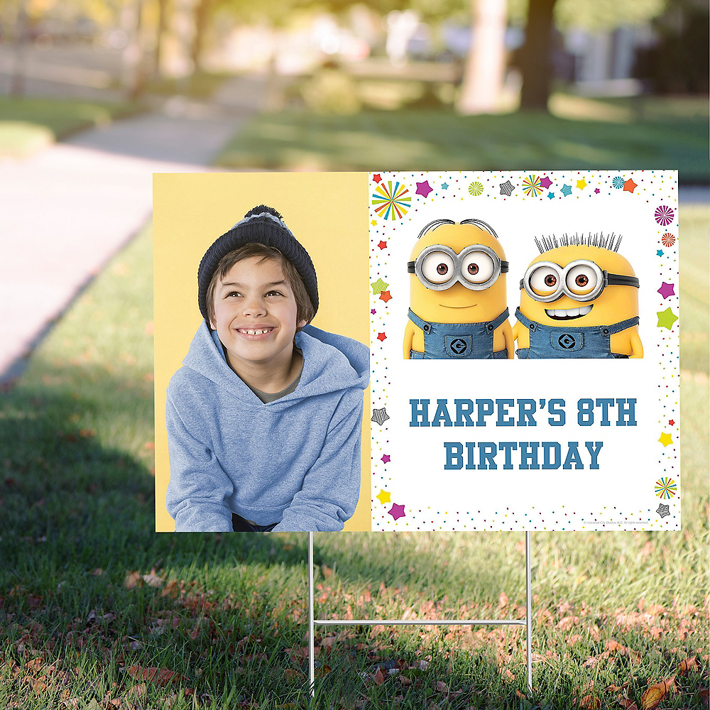 Custom Despicable Me 3 Photo Yard Sign Image #1