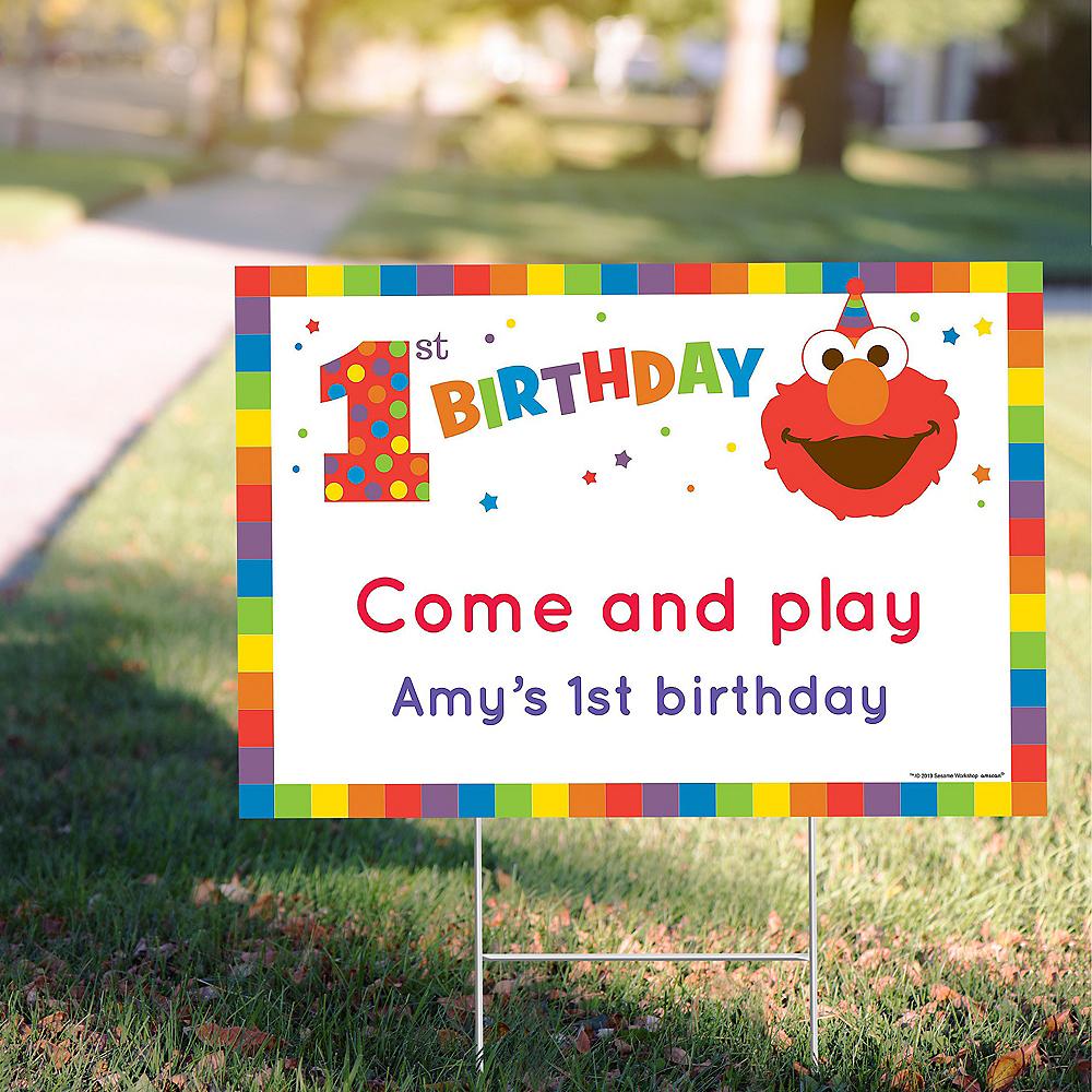 Custom Elmo 1st Birthday Yard Sign Image #1