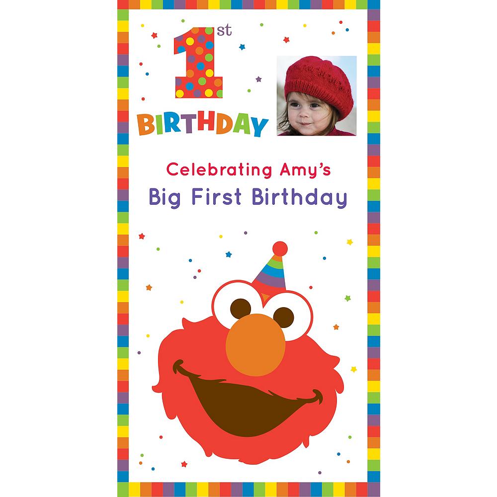 Custom Elmo 1st Birthday Photo Backdrop Image #1