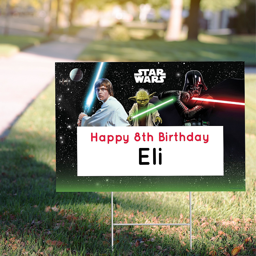 Custom Star Wars Yard Sign Image #1