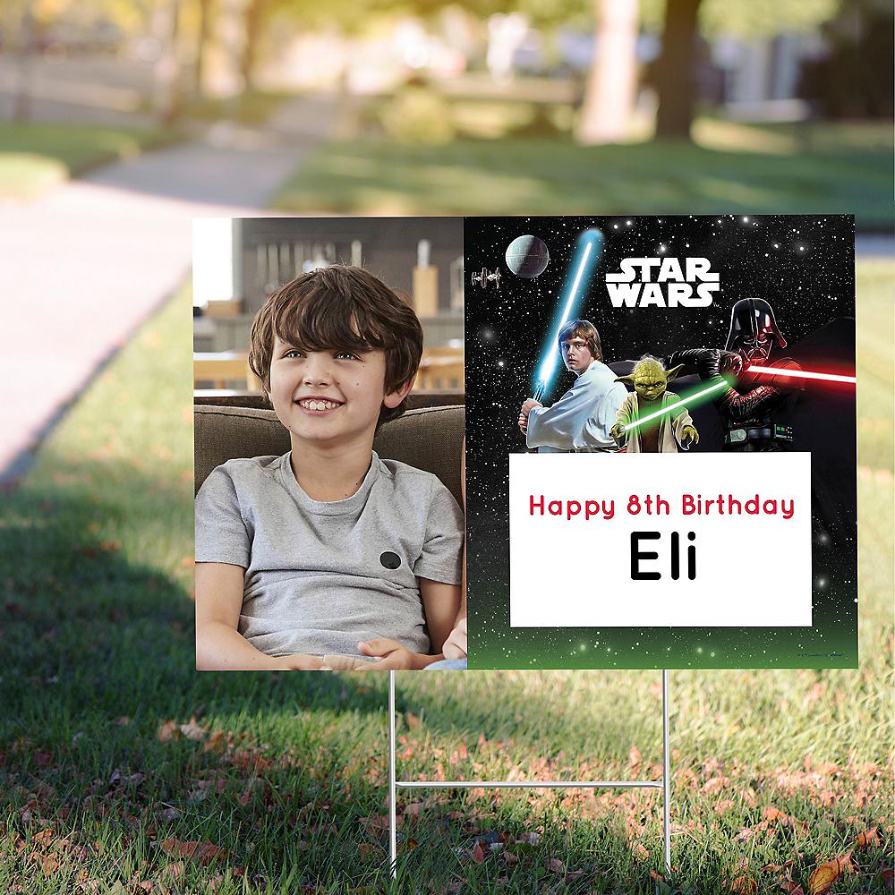 Custom Star Wars Photo Yard Sign Image #1