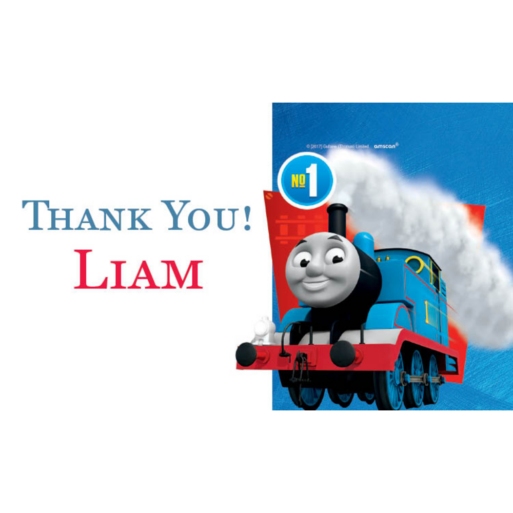 Custom Thomas the Tank Engine Thank You Notes Image #1