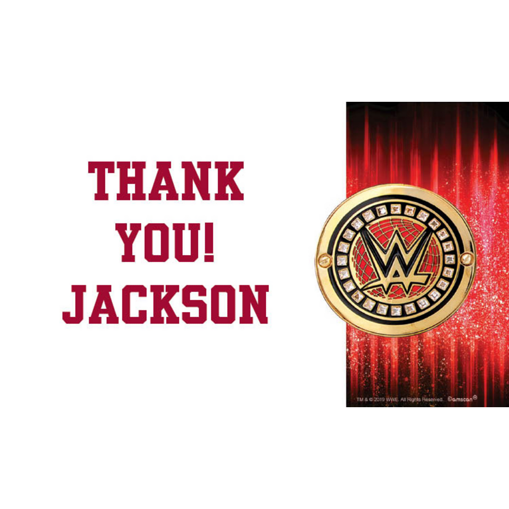 Custom WWE Thank You Notes Image #1