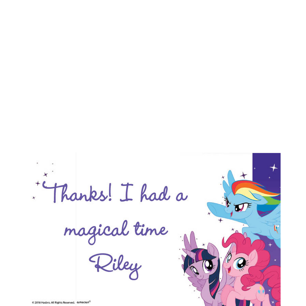 Custom My Little Pony Thank You Notes Image #1