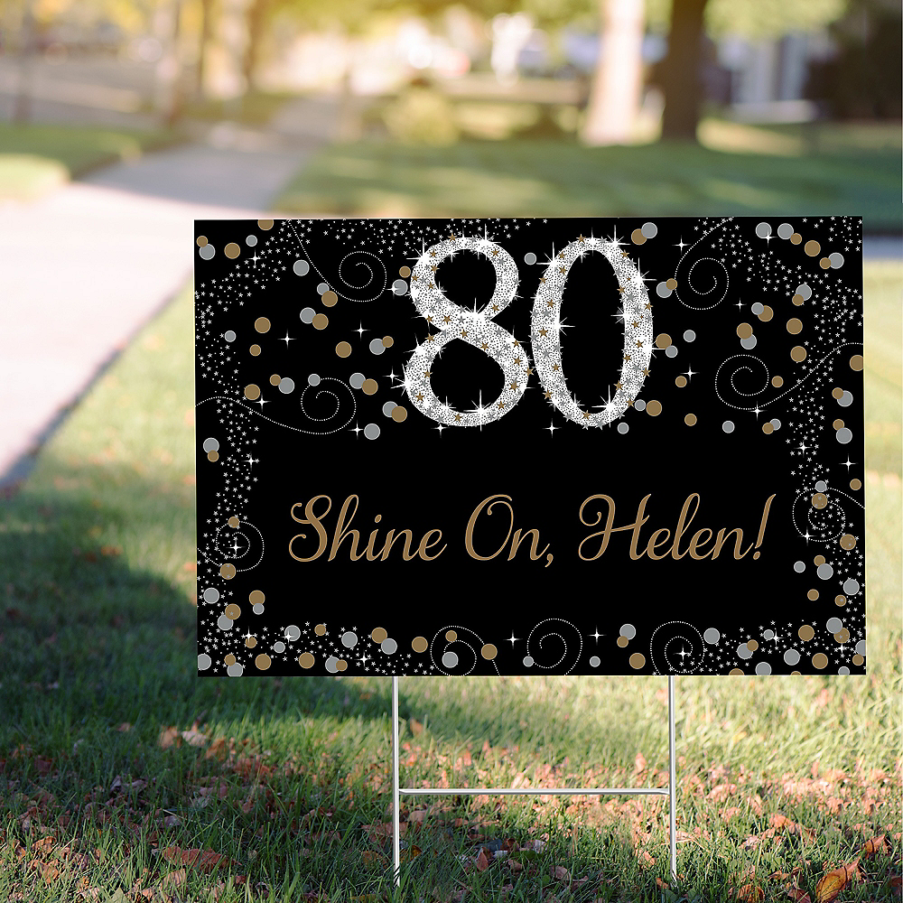 Nav Item for Custom Sparkling Celebration 80 Yard Sign Image #1