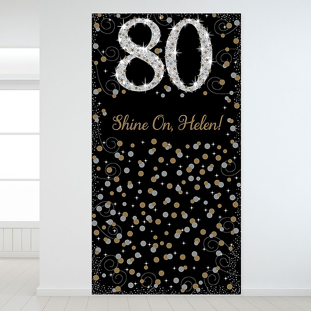 Custom Sparkling Celebration 80 Backdrop Image #1