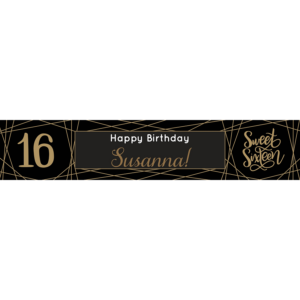 Custom Elegant Sweet 16 Table Runner Image #1