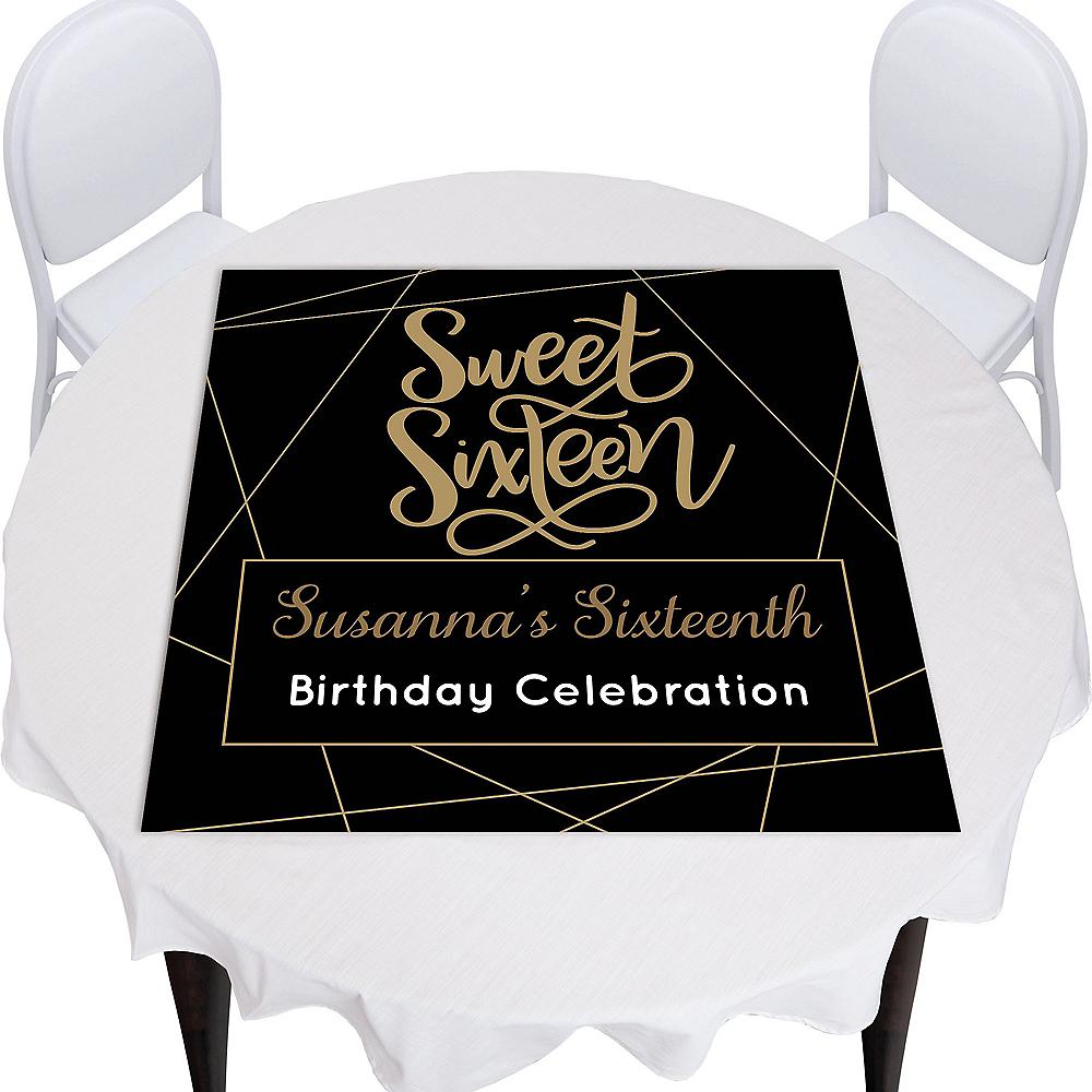 Custom Elegant Sweet 16 Square Table Topper Image #1