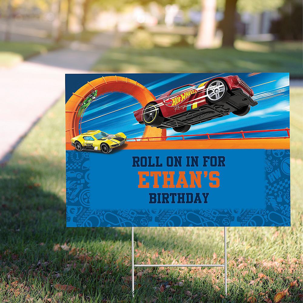 Custom Hot Wheels Wild Racer Yard Sign Image #1