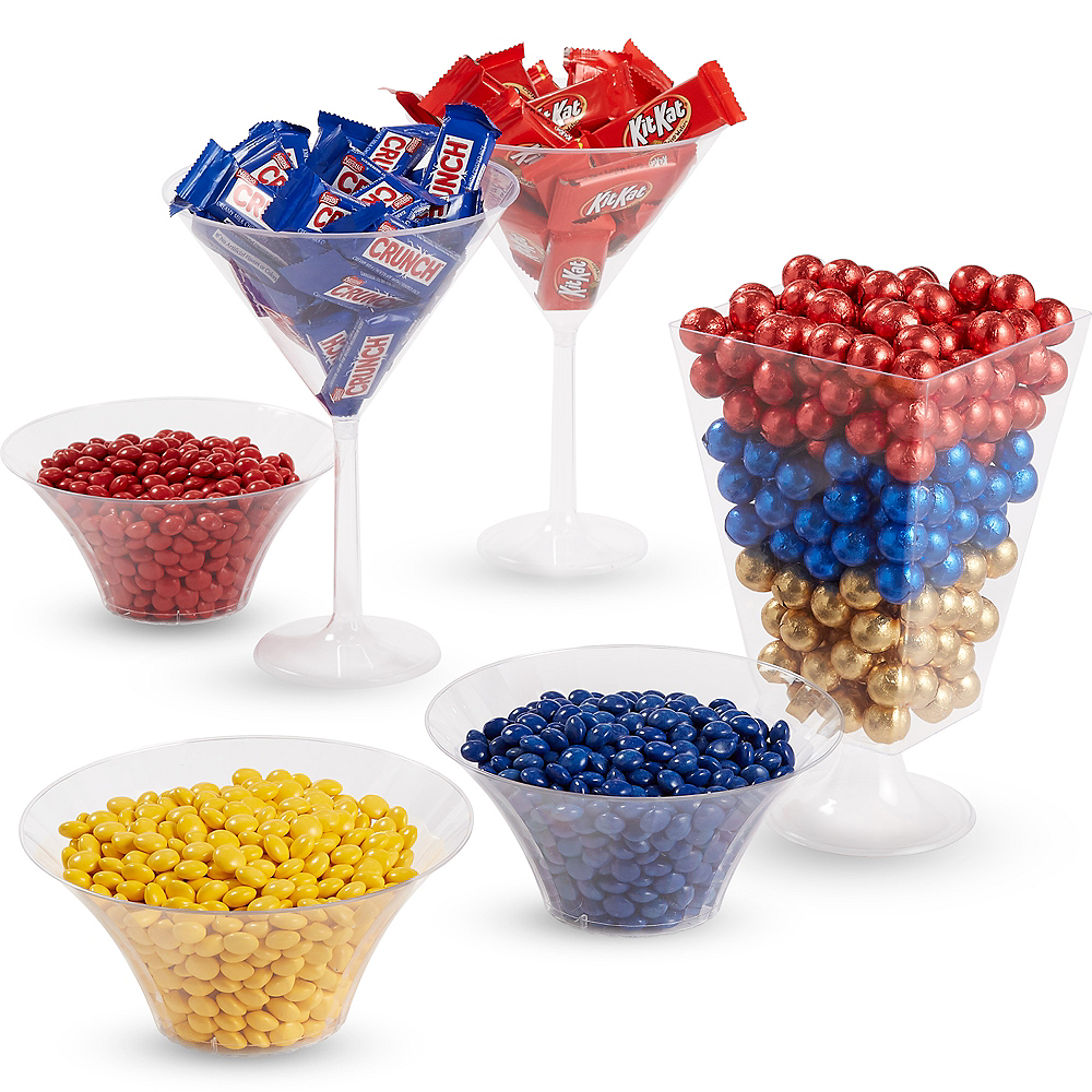 Super Blue, Gold & Red Chocolate Candy Kit Image #1