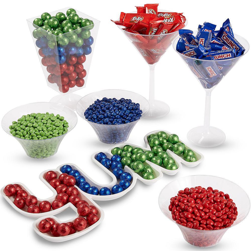 Ultimate Blue, Green & Red Chocolate Candy Kit Image #1