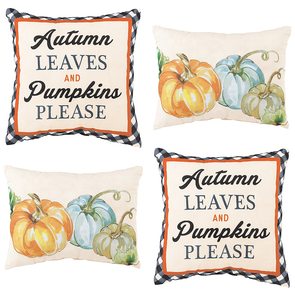 Fall Pumpkin Decorative Pillows Set Image #1