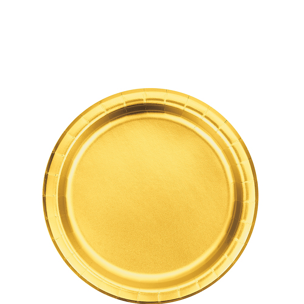 Metallic Gold Dessert Plates 8ct Image #1