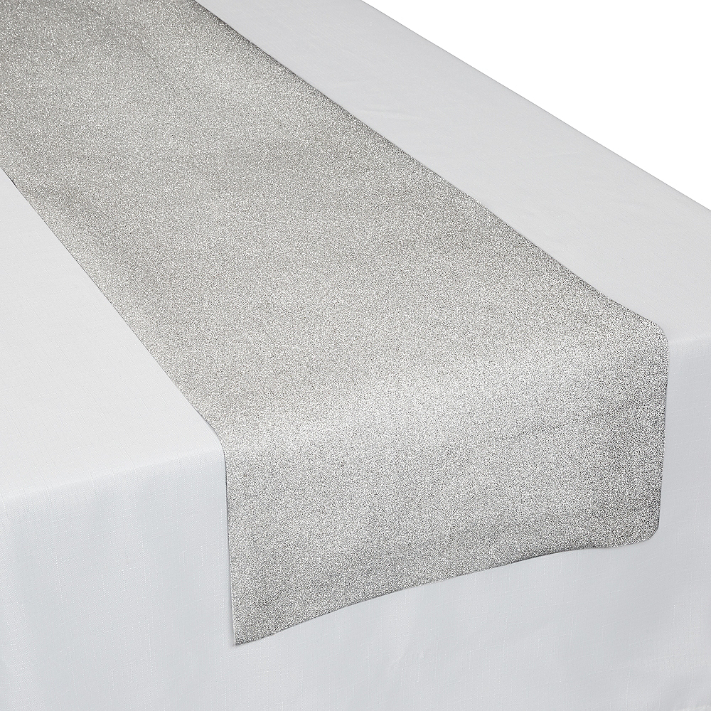 Nav Item for Glitter Silver Table Runner Image #2
