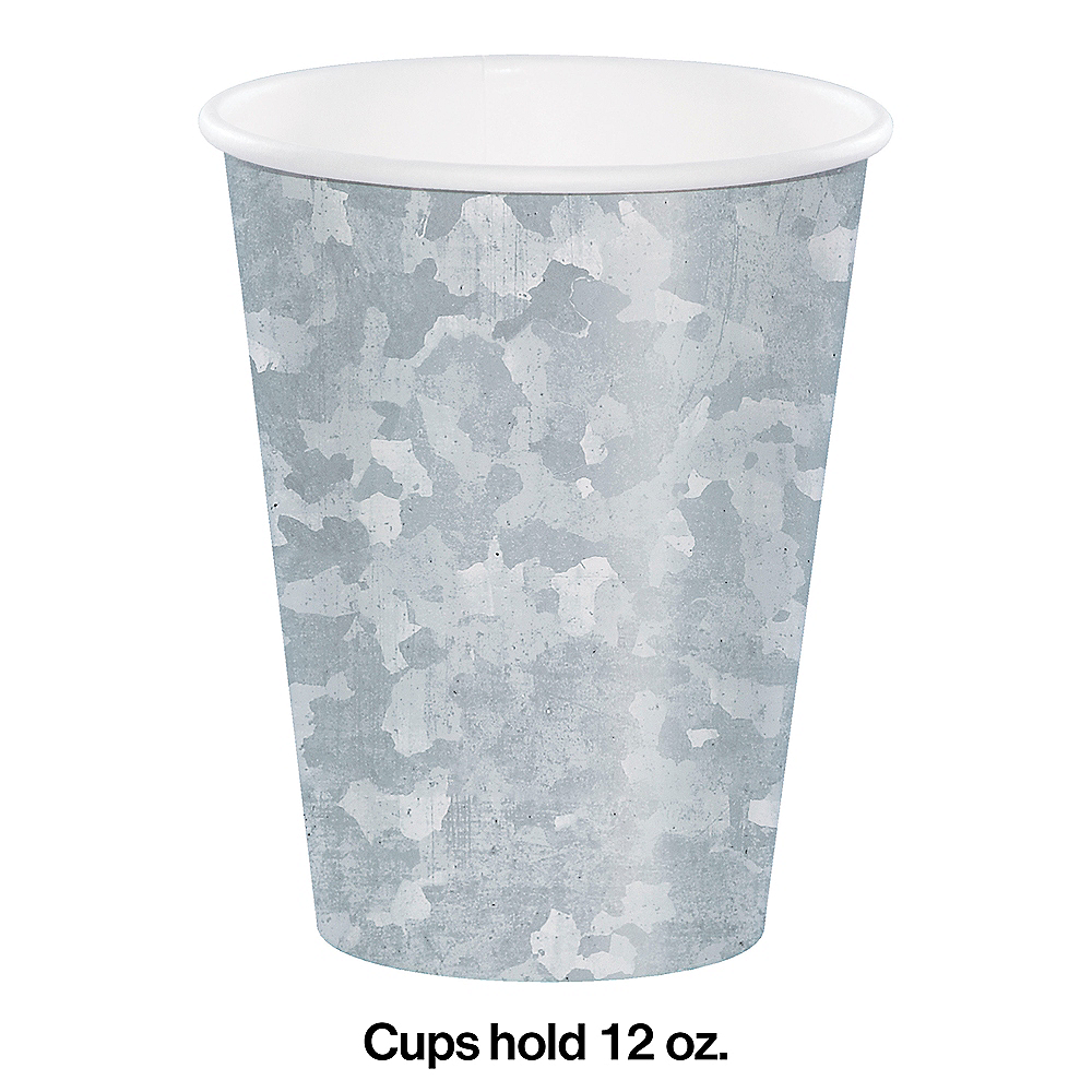 Galvanized Paper Cups 8ct Image #2