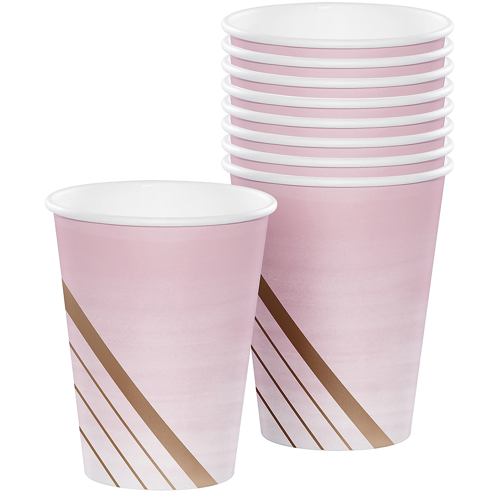 Rosé All Day Striped Paper Cups 8ct Image #1