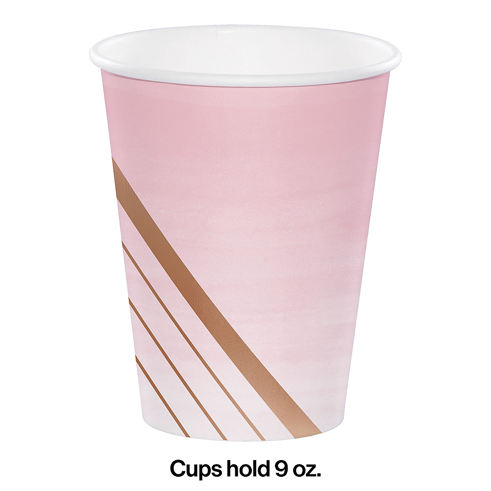 Rosé All Day Striped Paper Cups 8ct Image #2