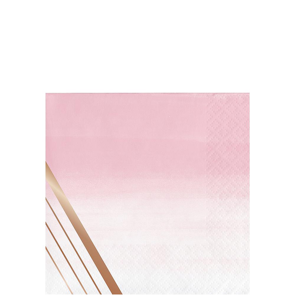 Rosé All Day Striped Beverage Napkins 16ct Image #1