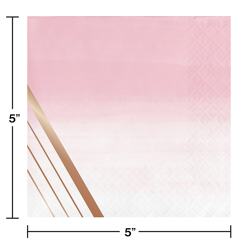 Rosé All Day Striped Beverage Napkins 16ct Image #2